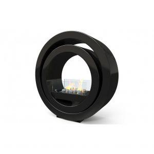 Golvkamin i svart färg Globus