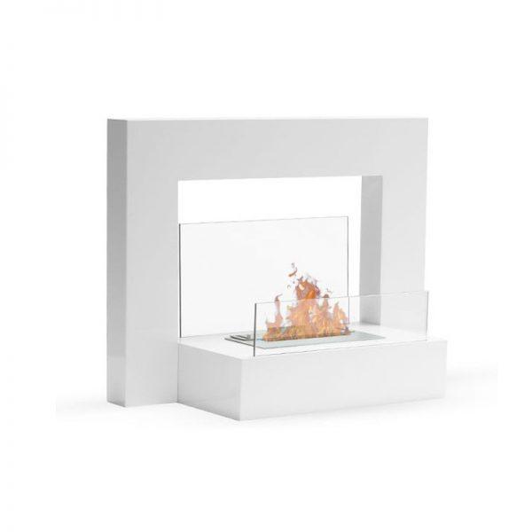 Lungo modern biopejs til gulvet hvid