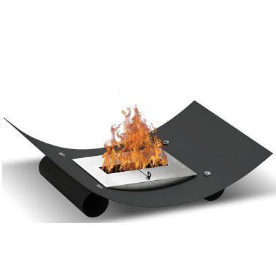 Plate en lille biopejs til bord sort