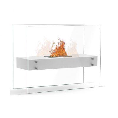 Zaphir biopejs med glas hvid
